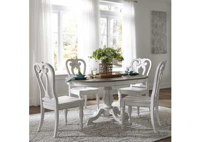 Magnolia Manor Antique White 5 Piece Dining Set