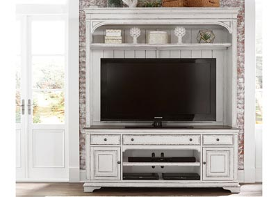 Magnolia Manor White Entertainment Center