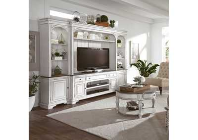 Magnolia Manor White Entertainment Center w/Piers