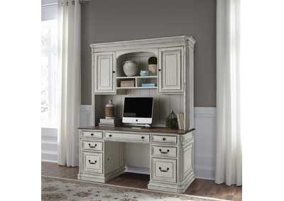 Image for Magnolia Manor White Jr Executive Credenza & Hutch
