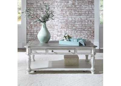 Magnolia Manor Antique White Rectangular Cocktail Table