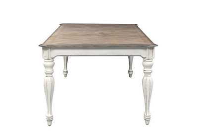 Magnolia Manor White Rectangular Extension Leaf Dining Table