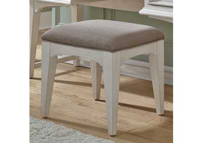 Image for Bayside Antique White Vanity Stool
