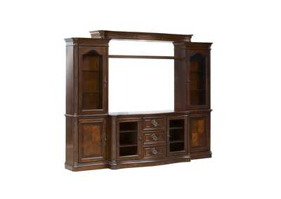 Andalusia Vintage Cherry Entertainment Center w/Piers