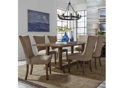 Havenbrook Brown 7 Piece Dining Set