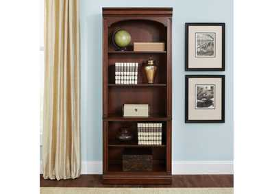 Brayton Manor Cognac Jr Executive Open Bookcase