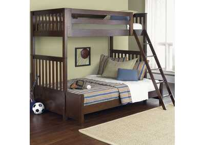 Abbott Ridge Cinnamon Twin Over Full Bunkbed
