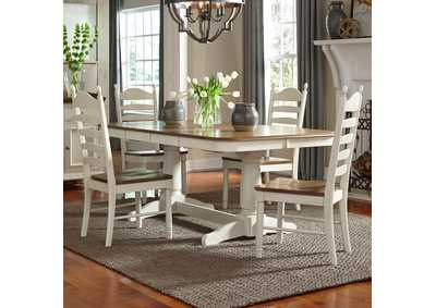Springfield Honey/Cream 5 Piece Rectangular Dining Set