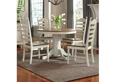 Springfield Honey/Cream 5 Piece Round Dining Set