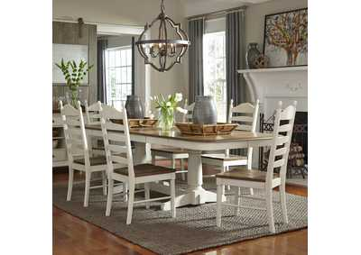Springfield Honey/Cream 7 Piece Rectangular Dining Set