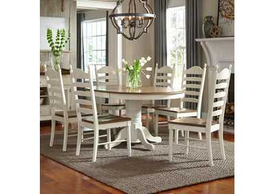Springfield Honey/Cream 7 Piece Round Dining Set