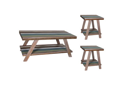 Boho Loft Multicolored Occasional Tables (Pack of 3)