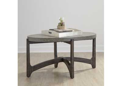 Cascade Rustic Brown Oval Cocktail Table