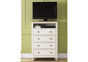 Ocean Isle Youth 4 Drawer Media Chest