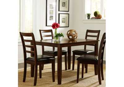 Image for Hampton Russet 5 Piece Rectangular Leg Table Set