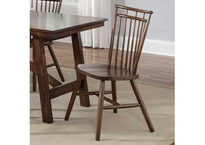 Creations II Spindle Back Side Chair - Tobacco (Set of 2)