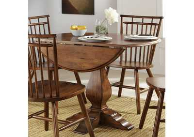 Creations II Tobacco Drop Leaf Dining Table