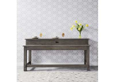 Image for Modern Farmhouse Dusty Charcoal Console Bar Table