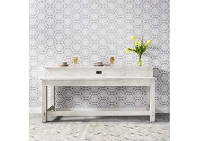 Image for Modern Farmhouse White Console Bar Table