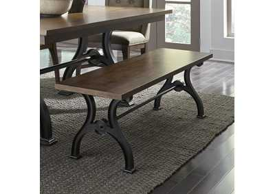 Image for Arlington House Cobblestone Brown Bench (RTA)