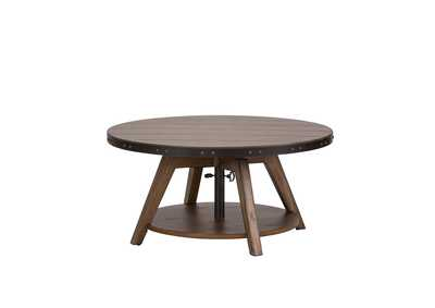Aspen Skies Brown Motion Cocktail Table