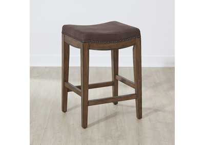 Aspen Skies Brown Upholstered Barstool