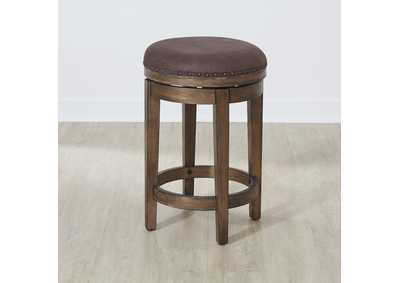 Aspen Skies Brown Swivel Barstool