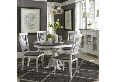 Image for Allyson Park White/Charcoal 5 Piece Dining Set