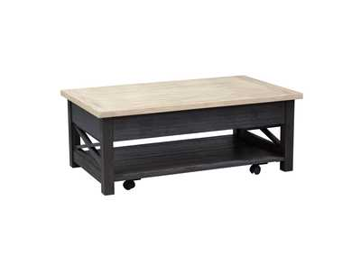 Heatherbrook Charcoal Lift Top Cocktail Table