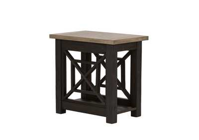 Heatherbrook Charcoal Chairside Table