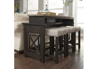 Image for Heatherbrook Charcoal/Ash Console Bar Table