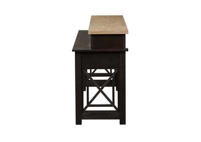 Heatherbrook Charcoal Console Bar Table