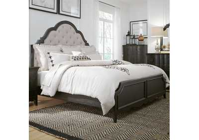 Image for Chesapeake Black Queen Upholstered Panel Bed
