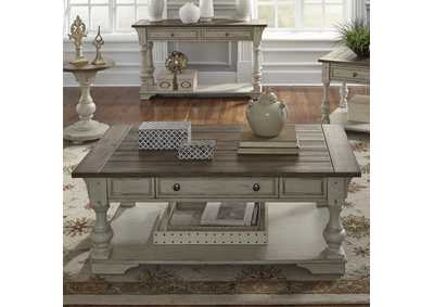 Morgan Creek Antique White/Brown Cocktail Table
