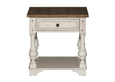 Morgan Creek Antique White/Brown End Table