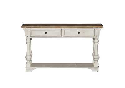 Morgan Creek Antique White/Brown Sofa Table