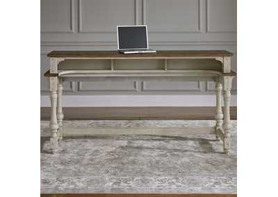 Morgan Creek Antique White Console Bar Table