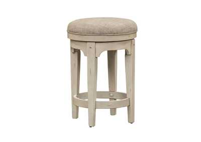 Morgan Creek Antique White/Brown Console Swivel Stool,Liberty