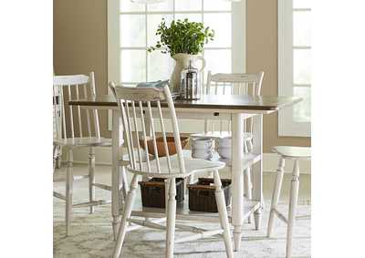 Image for Oak Hill Tan/White Kitchen Island Table