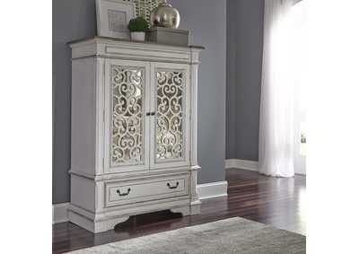Image for Abbey Park Antique White Mirrored Door Chest