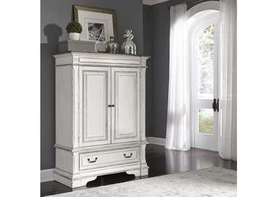 Image for Abbey Park Antique White Wood Door Chest