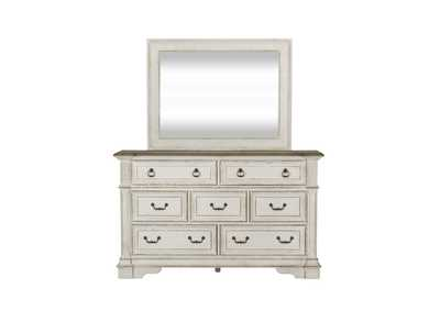 Image for Abbey Park White/Truffle Dresser and Mirror