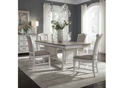 Abbey Park White 5 Piece Dining Set