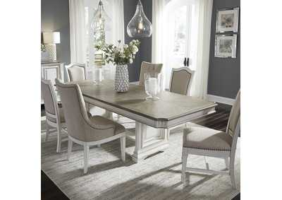 Abbey Park White 7 Piece Dining Set