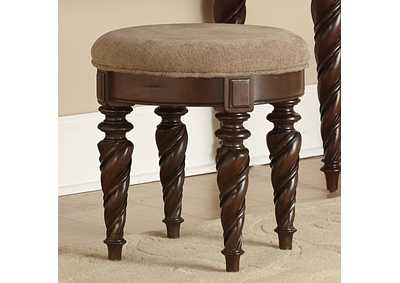 Image for Arbor Place Brown Vanity Stool