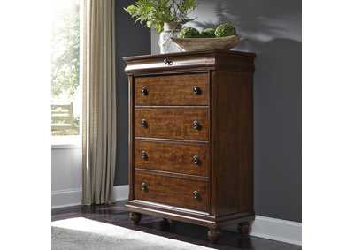 Image for Rustic Traditions Cherry 5 Drawer Chest