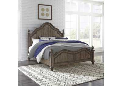Image for Parisian Marketplace Brown King Poster Bed