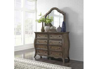 Image for Parisian Marketplace Brown Dresser w/Scalloped Mirror