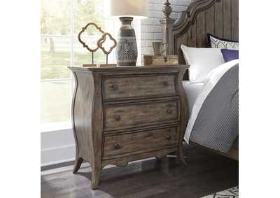 Image for Parisian Marketplace Brown 3 Drawer Bedside Chest w/Charging Station