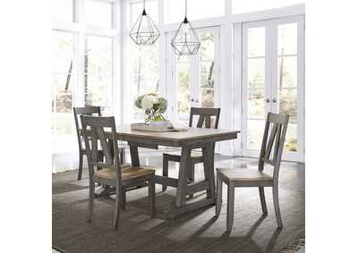 Lindsey Farm Gray/Sandstone 5 Piece Dining Set